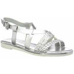 Marco Tozzi sandały damskie srebrne