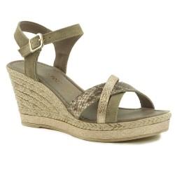 Marco Tozzi 2-28346-22 sandały damskie na koturnie