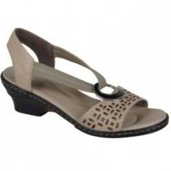 Rieker buty damskie beżowe