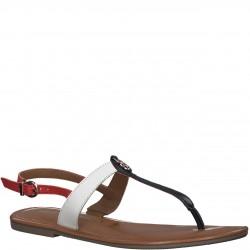 Tamaris sandały japonki płaskie skórzane