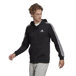 Bluza męska z kapturem adidas M 3S FT FZ HD
