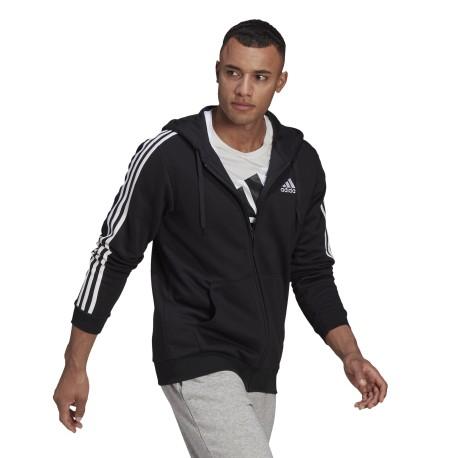 Męska bluza adidas M 3S FL FZ HD
