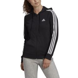 Bluza damska adidas W 3S SJ FZ HD czarna