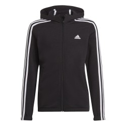 Bluza adidas z kapturem G 3S FL FZ HD czarna